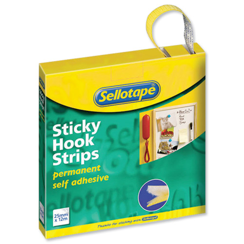 Sellotape Sticky Hook and Loop Sets 24 Sets 20x20mm Ref 1445176 Pack 24