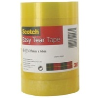 Scotch Easy Tear Clear Tape 25mmx 66m Ref ET2566T6