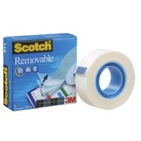 3M Scotch Magic Tape 811 Removable 19x33m Repositionable Adhesive Ref 8111933 Each