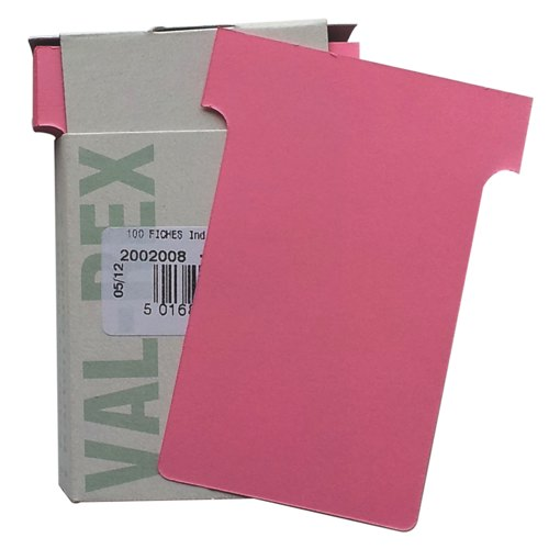 Eurocharts T-Card Size 2 Pale Pink Pack 100 Ref 1052011