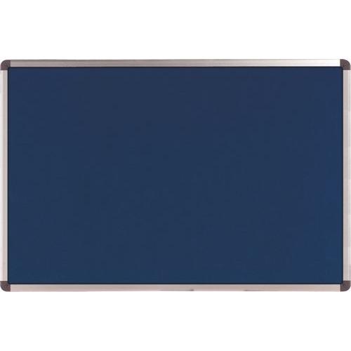 Nobo Elipse Noticeboard Felt with Aluminium Frame 600x900mm Blue Ref 1900915 Each