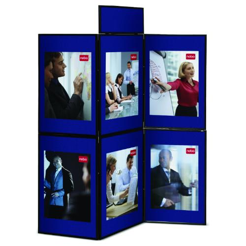 Nobo 6 Panel Showboard Display System Blue/Grey Ref 1900043 Each