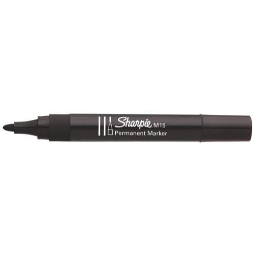 Sharpie Permanent Bullet Marker M15 Black Ref S0192582