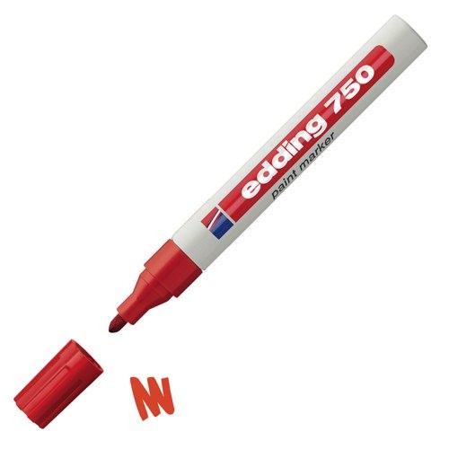 Edding 750 Paint Marker Bullet Tip Red Ref 750-002