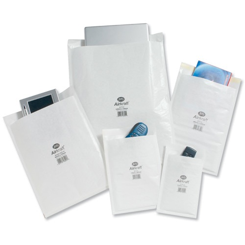 Jiffy Airkraft Postal Bags Bubble-Lined Peel And Seal No.2 White 205X245mm Ref MMUL04608 Pack 10