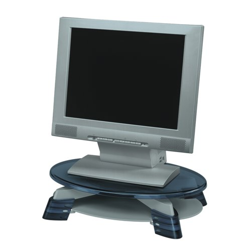 Fellowes Monitor Riser LCD 76-114mm Capacity 17in Grey Charcoal Ref 91450 Each