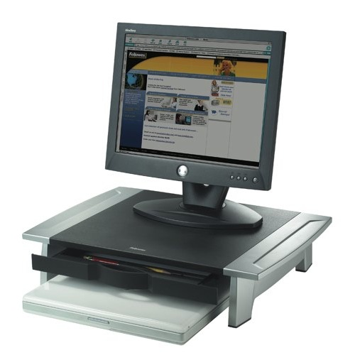 Fellowes Office Suites Monitor Riser Small Height Adjustable Capacity 36kg Ref 8031101 Each