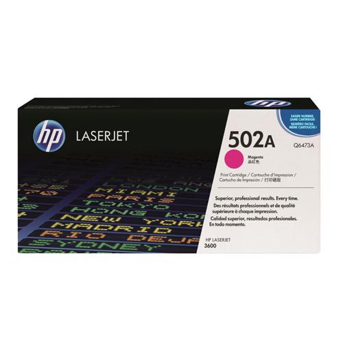 HP Toner Cartridge 502A Magenta Ref Q6473A 4K