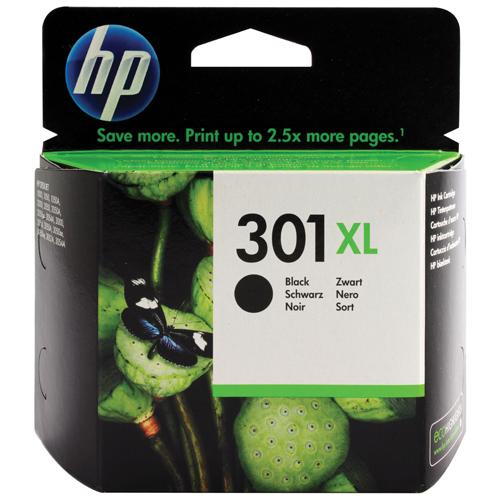 HP Black No.301XL Inkjet Cartridge REF CH563EE