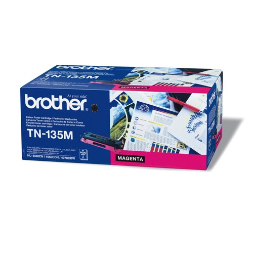 Brother Laser Toner High Capacity Cartridge Magenta Ref TN-135M Each