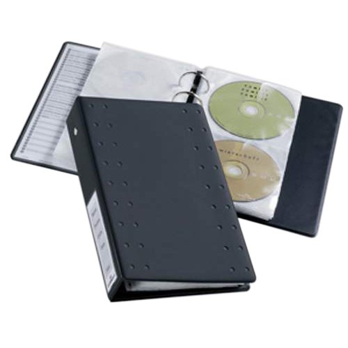 Durable CD and DVD Pocket for Index 20 Ring Binder Capacity 2 Disks Clear Pack 5 Ref 5203/19