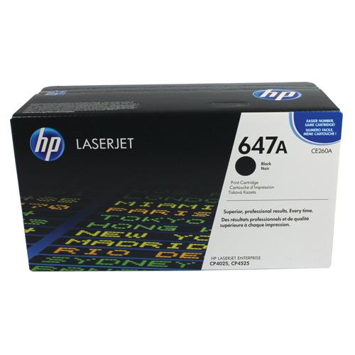HP Toner Cartridge 647A Black Ref CE260A 8.5K