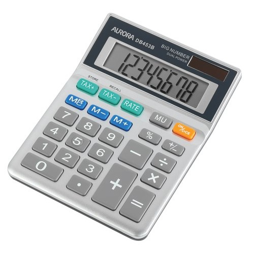 Aurora Calculator Semi Desktop DB453B Ref DB453B Each