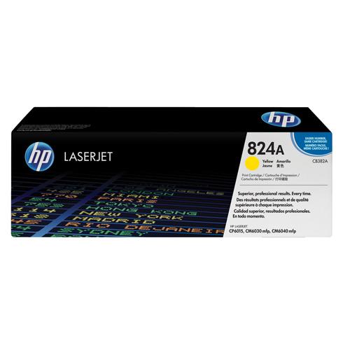 HP Toner Cartridge 824A Yellow Ref CB382A 21K
