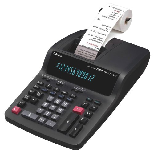 Casio FR620TEC Printing Calculator Euro Tax Mains-Power 12 Digit 3.0 Lines/Sec 213x343x88mm CS17851