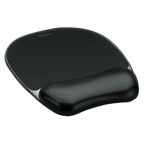Fellowes Crystal Gel Mousepad And Wrist Rest Black Ref 9112101 Each