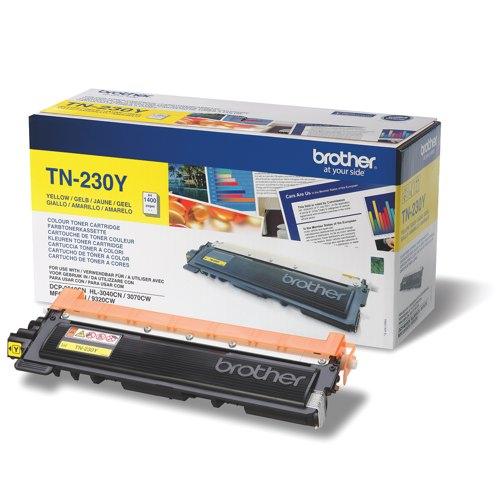 Brother TN-230Y Laser Toner Cartridg Yellow Ref TN230Y Each