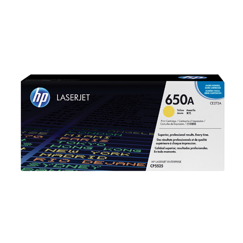 HP Toner Cartridge 650A Yellow Ref CE272A 15K