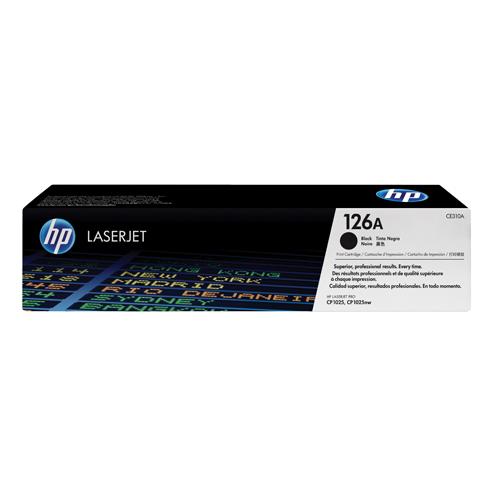 HP Toner Cartridge 126A Black Ref CE310A 1.2K