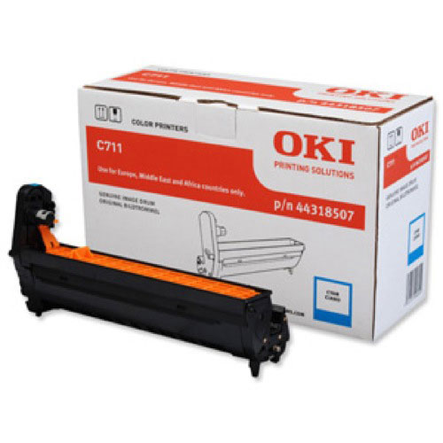 Oki C711 Drum Unit Cyan Code 44318507 Each