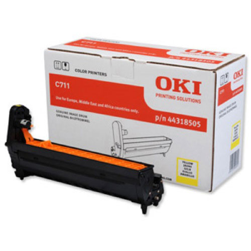 Oki C711 Drum Unit Yellow Code 44318505 Each
