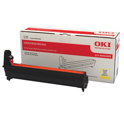Oki C810/C830 Drum Unit Yellow Ref 44064009 Each