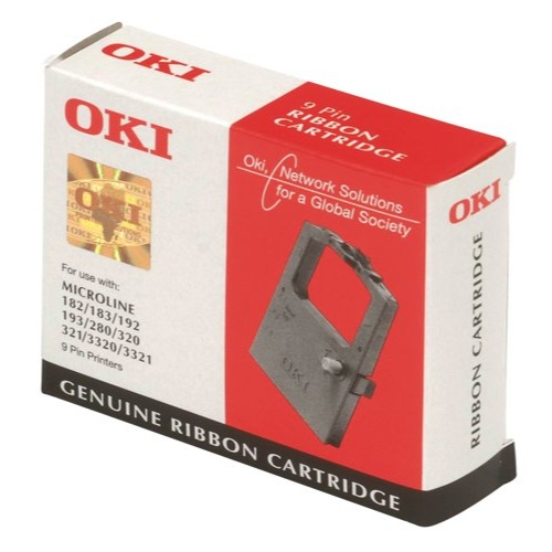 Oki ML320/390 Flat Bed Black Nylon Ribbon Ref 09002310 Each