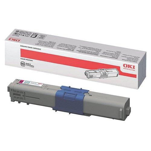 Oki C310/330/510/530 Colour Laser Toner 2K Pages Magenta 44469705 Each