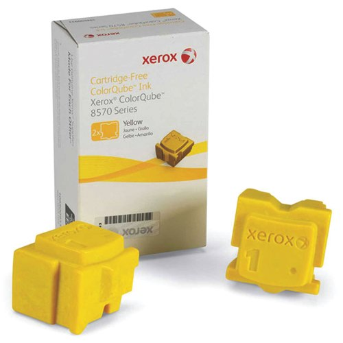 Xerox Colorqube 8570 Ink Sticks 4400 Pages Yellow Pack 2 108R00933