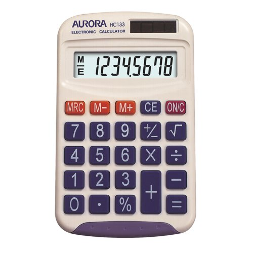 Aurora Calculator Pocket HC133 Ref HC133 Each