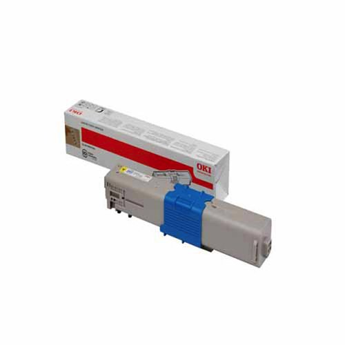 OKI C301/321 Toner Cartridge Yellow. OEM: 44973533