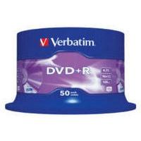 Verbatim DVD+R 16X Non-Printable Spindle Pack of 50 43550