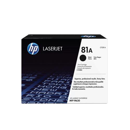 HP LaserJet Cartridge 81A Black Ref CF281A 10.5K