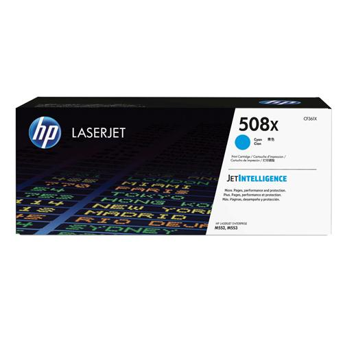 HP LaserJet Toner Cartridge 508X Cyan Ref CF361X 9.5K