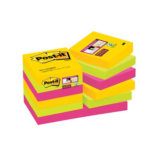 Post-it SS Notes Rio 47.6x47.6mm Pack of 12