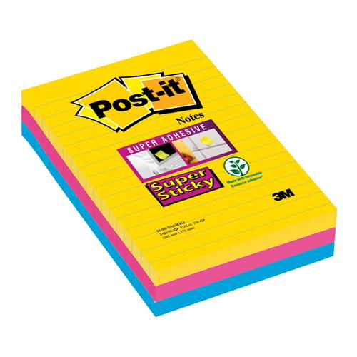 Postit SS XXL Lined Notes Rio 101x152 Pack of 3