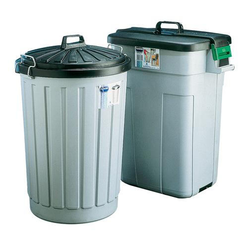 Addis Dustbin Round 90L Grey With Black Lid