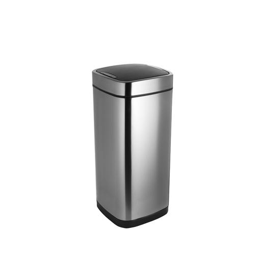 Addis 40 Litre Deluxe Stainless Steel Square Press Top Bin 513914