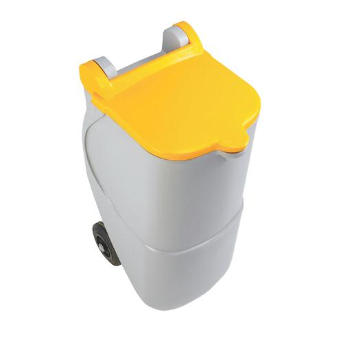 Recycling Wheelie Bin 90L Non-Locking Yellow 314634