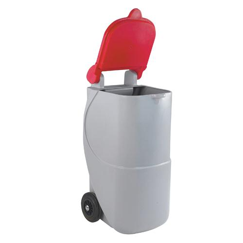 Recycling Wheelie Bin 90L Non-Locking Red 314633