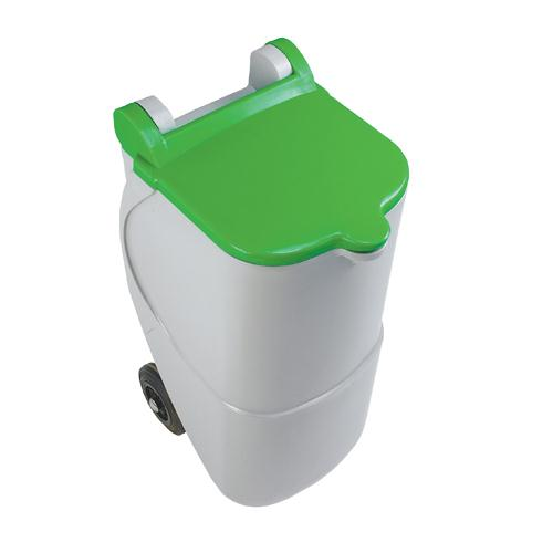 Recycling Wheelie Bin 90L Non-Locking Green 314632