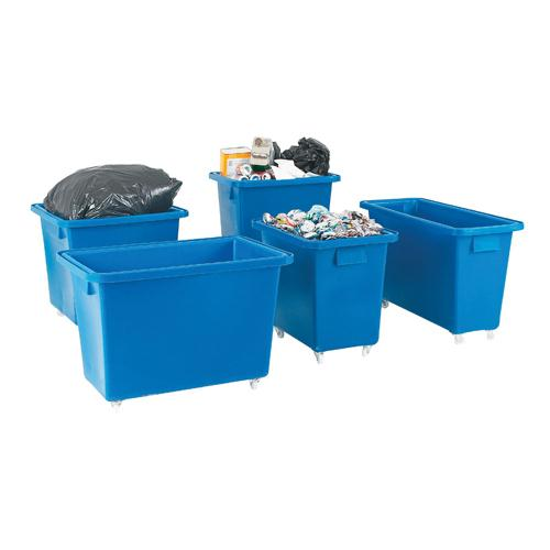 Bottle Skip 790X470X550mm 4X50mm Swivel Blue 328225
