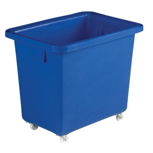 Bottle Skip 610X405X560mm 4X50mm Swivel Blue 328217