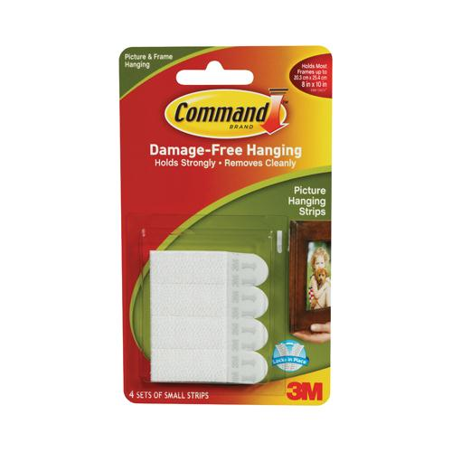 Command Small Picture Hanging Strips Pk4 17202