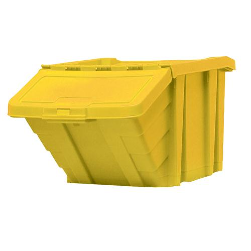 Heavy Duty Storage Bin With Lid Yellow 369047