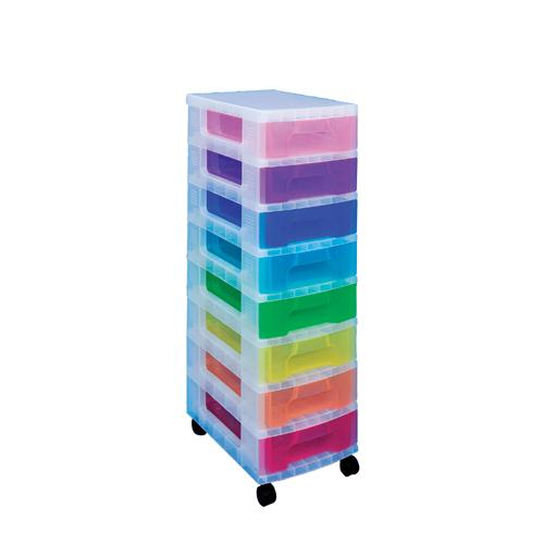 Really Useful Tower 8 x7 litre Drawers Multi-Colour Dt1007