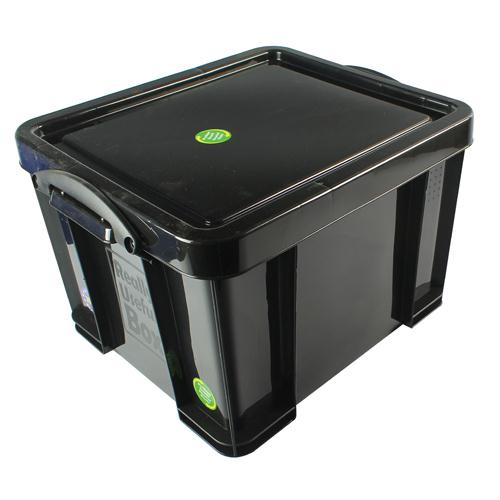 Really Useful Black 35L Recycled Storage Box