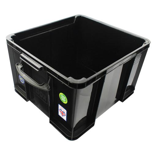 Really Useful Black Plastic 42L Storage Box