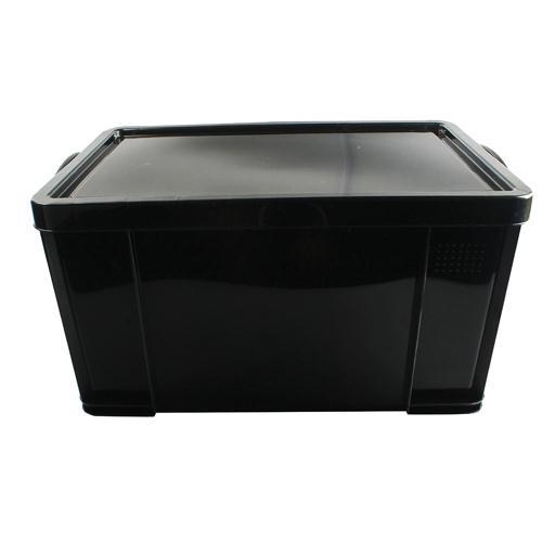 Really Useful Black 84L Recycled Plastic Storage Box (Pk 1) 84BlackR