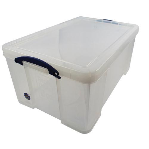 Really Useful Clear 64L Plastic Storage Box 710x440x310mm (Pk 1) 64C